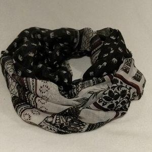 Ardene Circle scarf elephants pattern.
